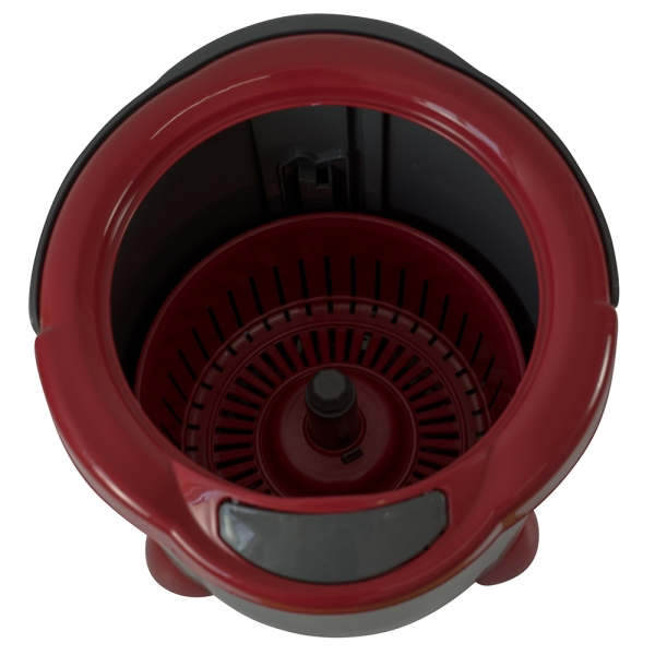 Galeata rotunda cu mop rotativ +  mop plat, Pingui, gri, 15 L 1