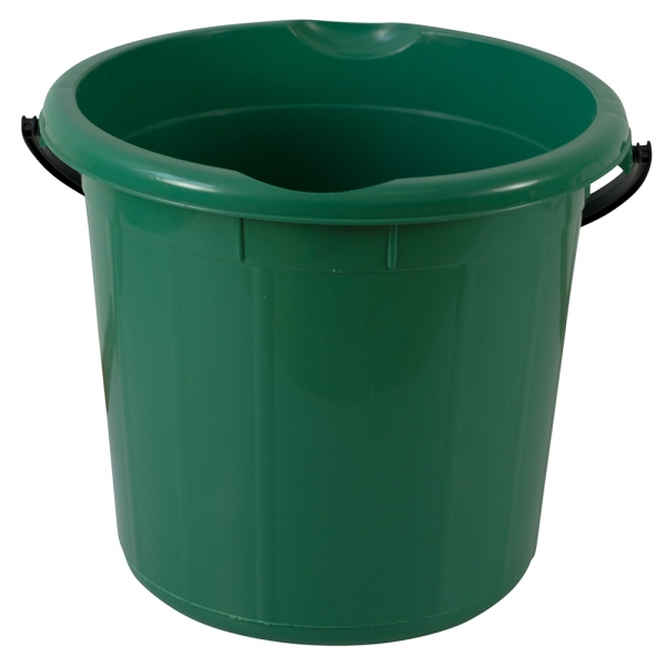 Galeata rotunda fara capac, 15l, verde 0
