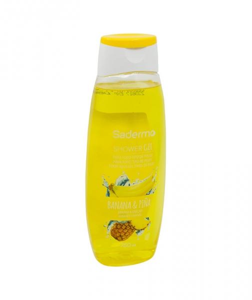Gel de dus Banana & Ananas, Sadermo, 750 ml