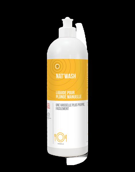 Detergent de vase pentru spalare manuala, NAT'WASH ZEST - CERTIFICAT ECOCERT, 750 ml 0