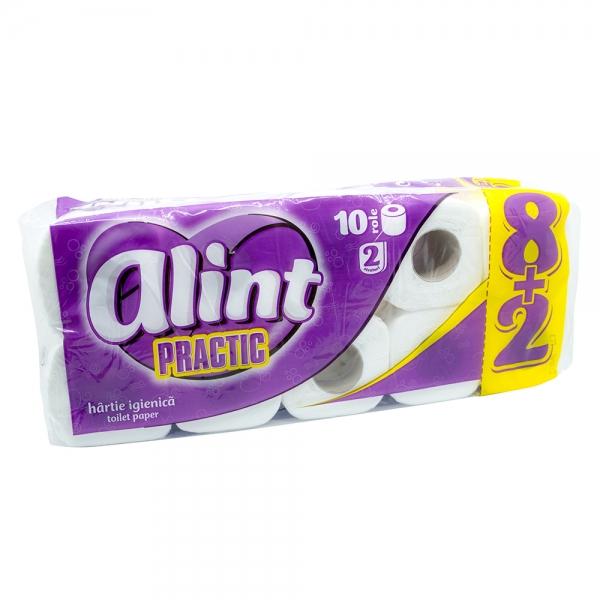 Hartie igienica Practic Alint, 2 straturi, 10 role 0