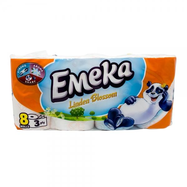 Hartie igienica Emeka, 3 straturi, 8 role, Linden Blossom 0