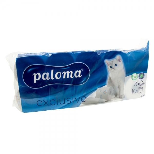 Hartie igienica Paloma Exclusive, 3 straturi, 10 role 0
