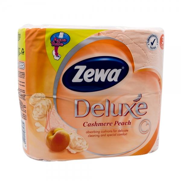 Hartie igienica Zewa Deluxe Cashmere Peach, 3 straturi, 4 role 0