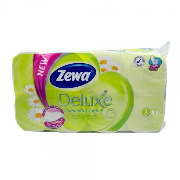 Hartie igienica Zewa Deluxe Camomile Comfort, 3 straturi, 8 role 0
