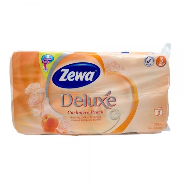 Hartie igienica Zewa Deluxe Cashmere Peach, 3 straturi, 8 role 0