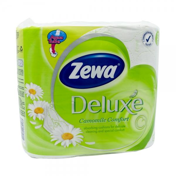 Hartie igienica Zewa Deluxe Camomile Comfort, 3 straturi, 4 role 0
