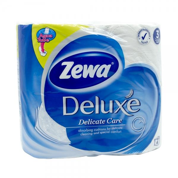 Hartie igienica Zewa Deluxe Delicate Care, 3 straturi, 4 role 0