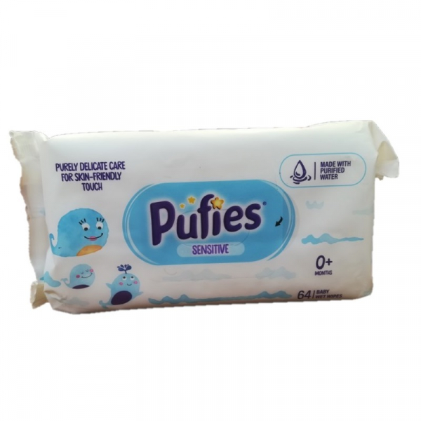 Pufies Sensitive Servetele umede 64 buc/set 0