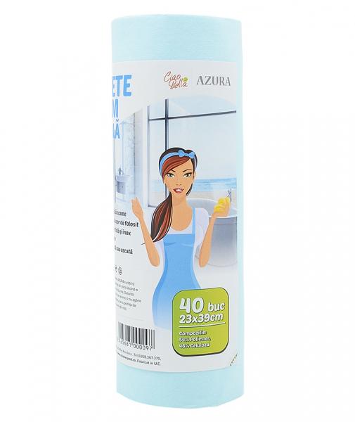 Lavete geam pe rola, Ciao Bella, Azura, 40 buc/ rola [3]