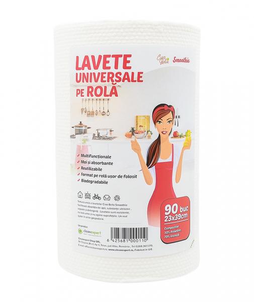 Lavete universale pe rola, Ciao Bella, Smoothie, 90 buc/ rola 0