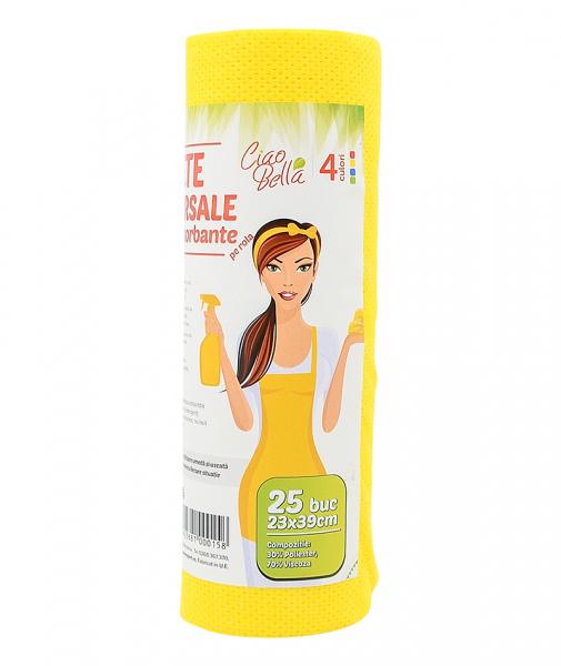 Lavete universale pe rola, Ciao Bella, 25 buc pe rola, galben [2]