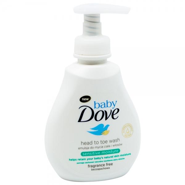 Lotiune spalare pentru par si piele sensibila Dove Baby Sensitive Moisture, 200 ml 0