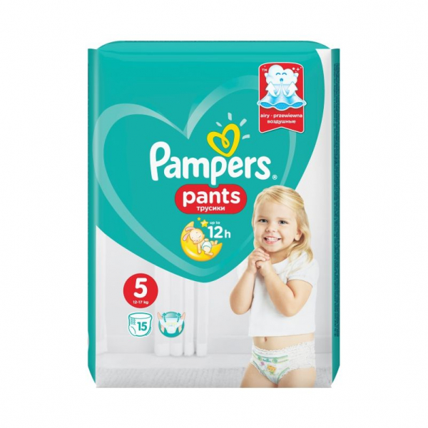 Pampers Pants 5, scutece chilotel, 15 buc 0
