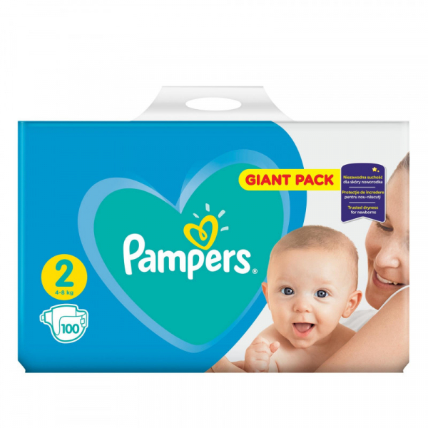 Pampers Active Baby Giant Pack  2 , scutece, 100 buc 0