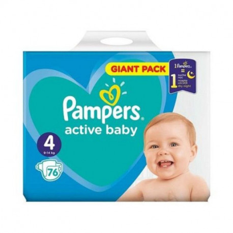 Pampers Active Baby Giant Pack nr. 4 , scutece, 76 buc 0