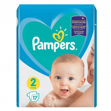 Pampers 2 New Born, scutece, 17 buc 0