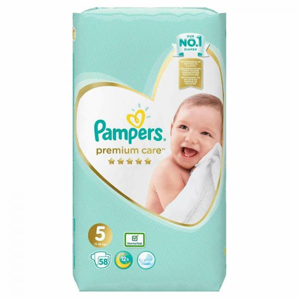 Pampers Premium Care 5, scutece, 58 buc [0]