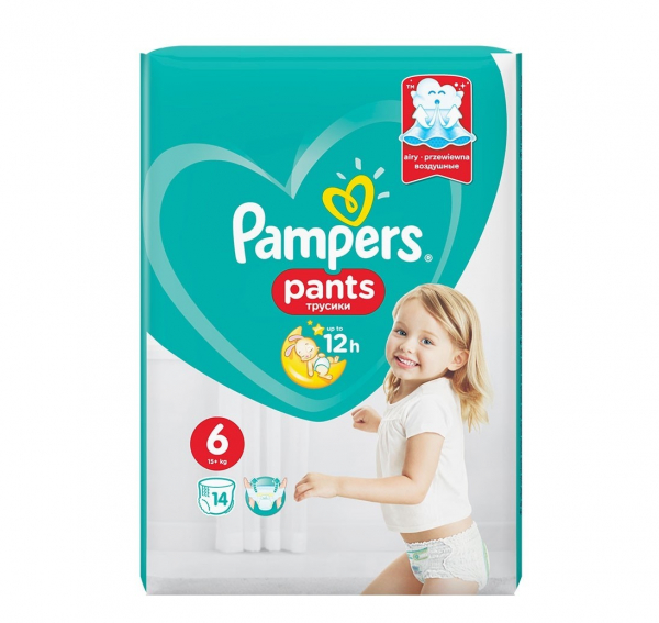 Pampers Pants 6, scutece chilotel, 14 buc 0