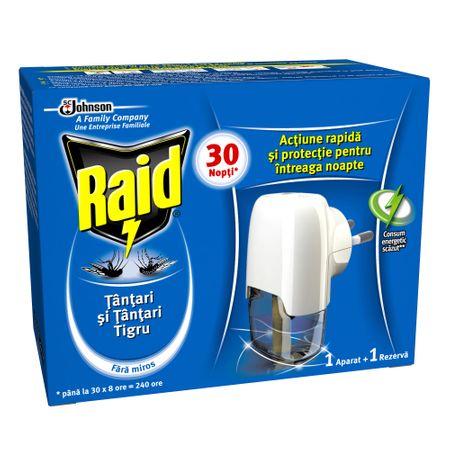 Aparat electric cu rezerva lichida impotriva tantarilor, Raid, 21 ml 0