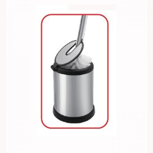 Perie wc din inox cu suport si capac automat, maner inalt [1]