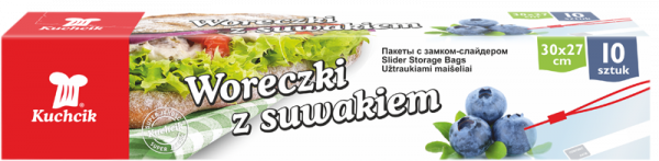 Pungi alimentare cu sistem ziplock, 3 l, 10 buc. 0