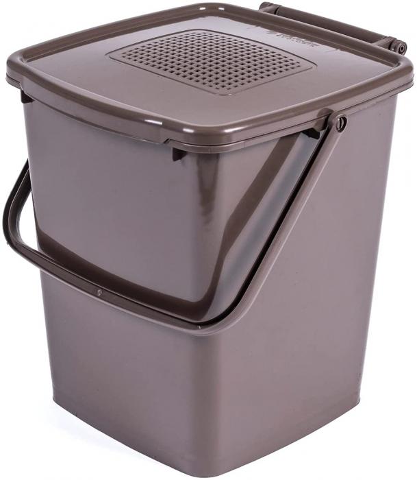 Recipient colectare deseuri biodegradabile cu capac si filtru, 10 L [0]