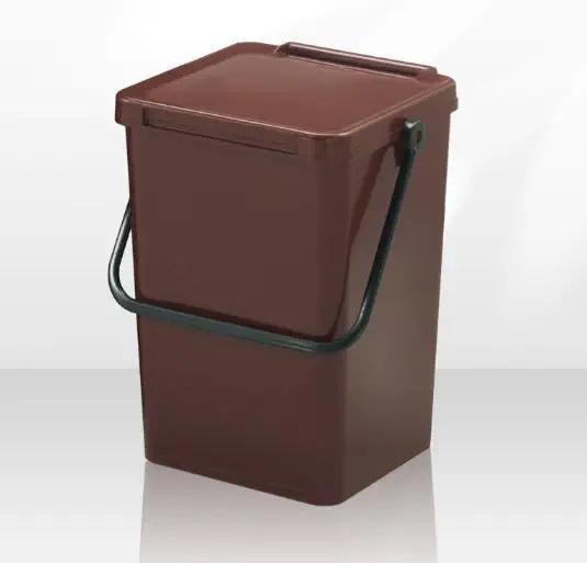 Recipient colectare deseuri biodegradabile, maro, 7 L [0]