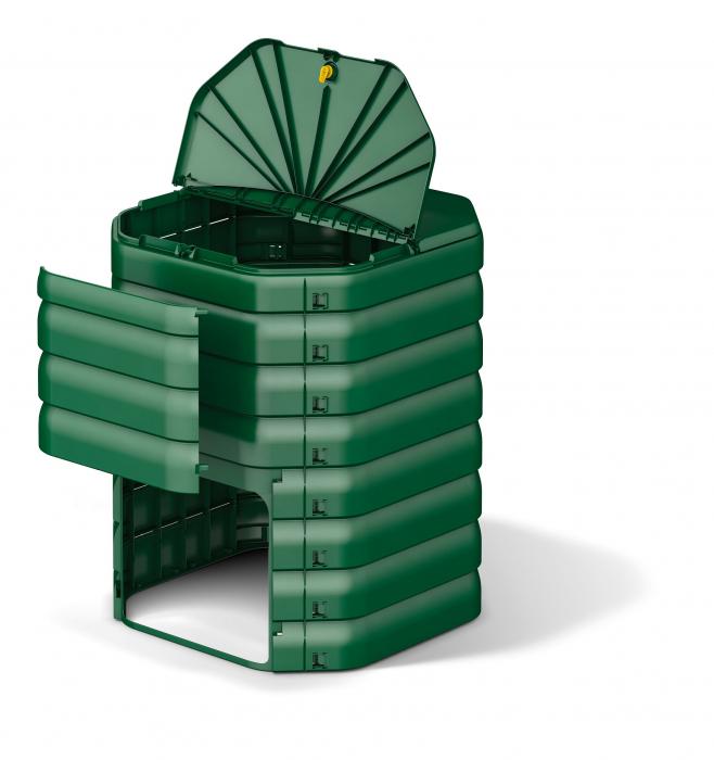 Compostor de gradina, verde, 300 L [5]