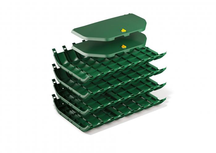 Compostor de gradina, verde, 300 L [4]