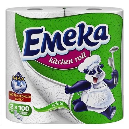 Rola prosop de hartie pentru bucatarie, 2 buc/set, Emeka White [0]