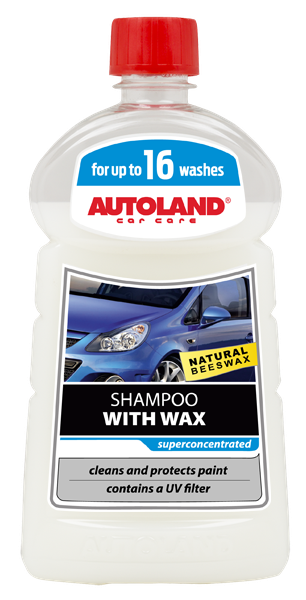 Sampon auto foarte concentrat cu ceara, Shampoo with wax, Autoland, 500 ml [0]