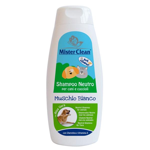 Sampon neutru  pentru animale, Mosc Alb, Mister Clean, 300 ml 0