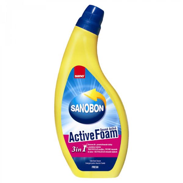 Sano Bon, Spuma activa pentru toaleta, Active Foam Fresh, 750 ml 0