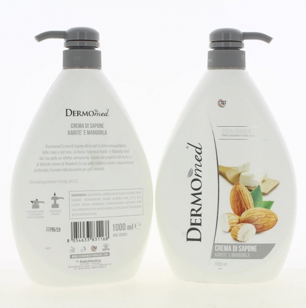 Sapun lichid Dermomed Karite Mandorla, 1L 1