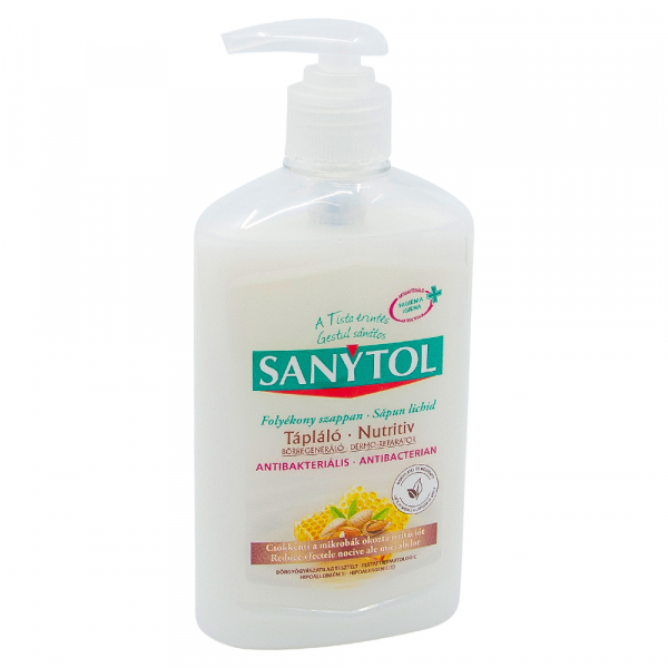 Sapun lichid antibacterian nutritiv, Sanytol, 250 ml 0
