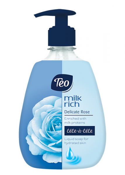 Sapun lichid Teo, Milk Rich Pure Delicate Rose, 400 ml 0