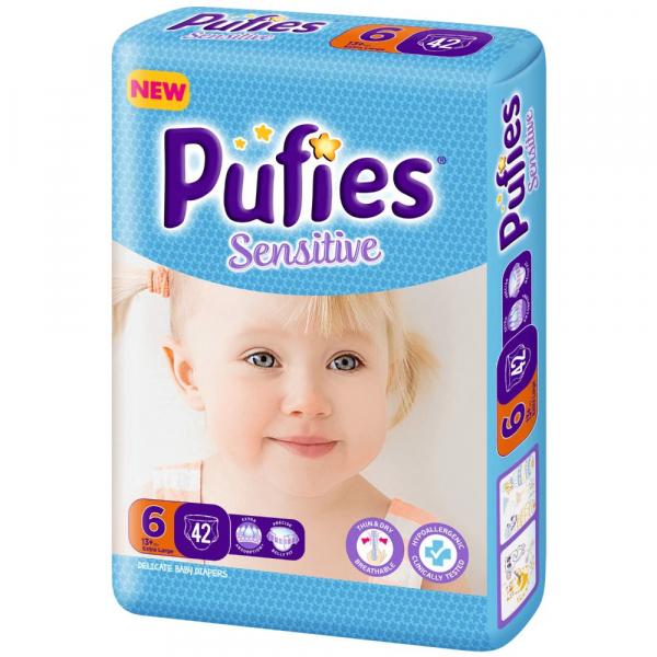 Scutece Pufies Sensitive 6, Extra Large, 42 buc [0]