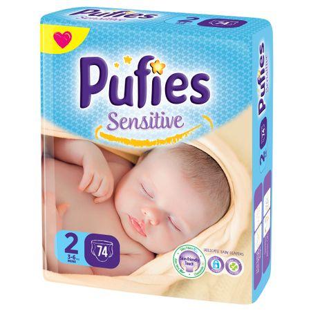 Scutece Pufies Sensitive 2, Mini, 74 buc [0]
