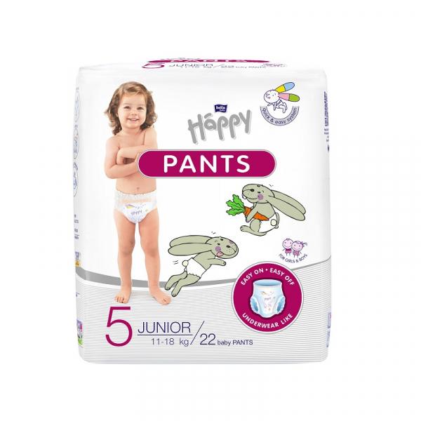 Scutece tip chilotel Happy Pants nr. 5 Junior, 22 buc 0