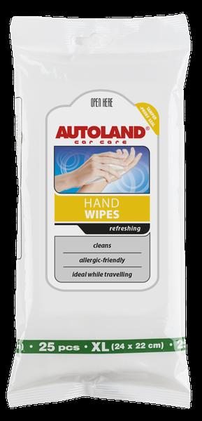 Servetele umede pentru curatarea mainilor, Autoland, 25 buc 0
