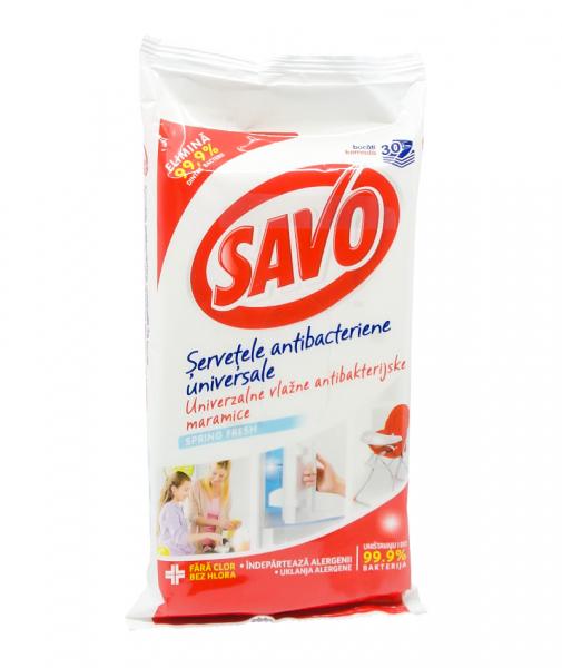 Servetele umede universale Spring Fresh, Savo, 30 buc 0