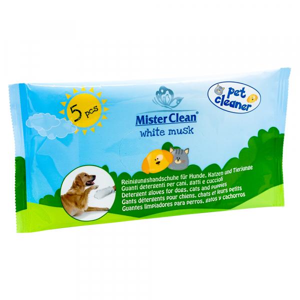 Manusi de curatare pentru animale, Mosc alb, Mister Clean, 5 buc/set 0