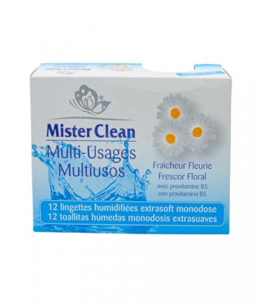 Servetele umede uz universal, Floral, Mister Clean, 12 buc 0