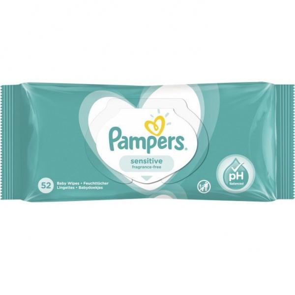 Servetelele umede Pampers Sensitive, 52 buc [0]