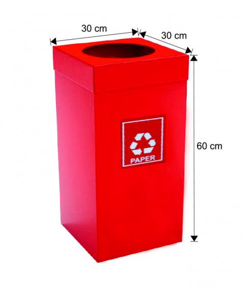 Cos colectare selectiva, rosu, metalic, 54 L 0