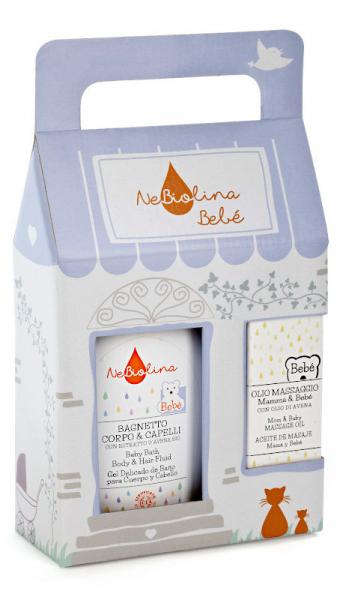 Set cadou pentru bebelusi ( gel de dus+ ulei pentru masaj), NeBiolina, BIO 0