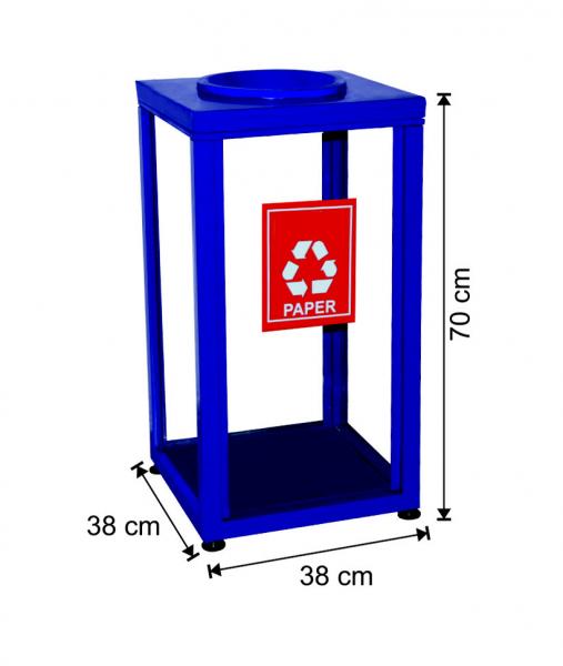 Cos pentru colectare selectiva din sticla, 100 L 0