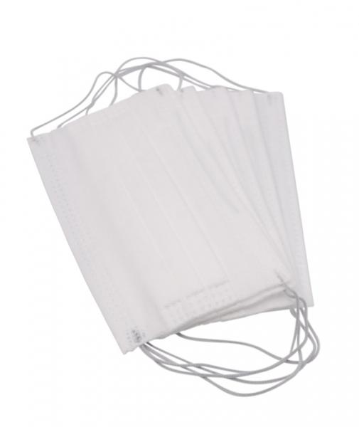 Masca de protectie de unica folosinta, 3 straturi, 3 pliuri, 5 buc/ set, alb 0