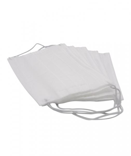 Masca de protectie de unica folosinta, 3 straturi, 3 pliuri, 5 buc/ set, alb 1
